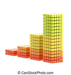 Growth bar graph isolated