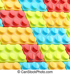 Background made of toy blocks