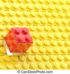 Background made of toy blocks - Background made of toy...