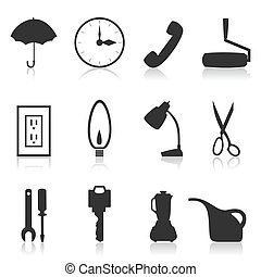House subjects3 - Set of icons on a theme house subjects. A...