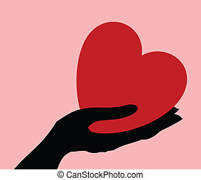 Heart in a hand