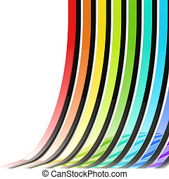 Abstract background made of rainbow stripes