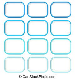 Abstract background made of blue squares