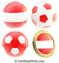 Austria football team attributes isolated
