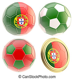 Portugal football team attributes isolated