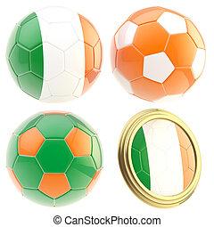 Ireland football team attributes isolated