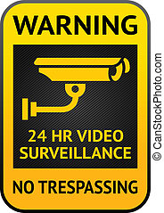 Video surveillance label - Warning Sticker for Security...