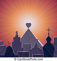 Love is my religion - Love - the best of religions, vector...