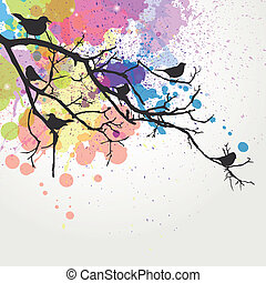 Abstract Vector Branch - Vector illustration of a branch...
