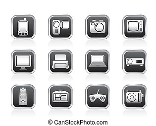 Hi-tech and technical icons