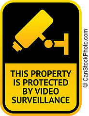 Video surveillance sticker - Warning Sticker for Security...
