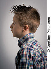 kid left side expression