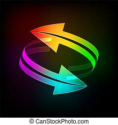 Bright arrows