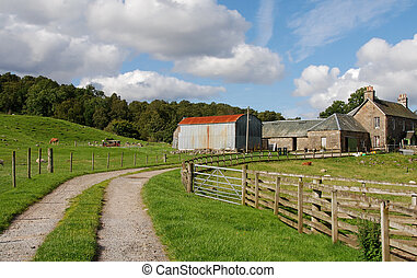 Farmhouse , Scotland UK - Typical Scottish farmhouse in...