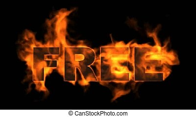 fire free word,burning sale sign