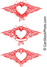 heart with patterns