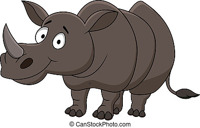 Rhino carton - Vector illustration of rhino cartoon