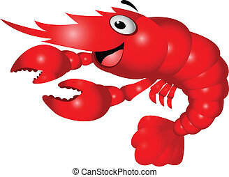 Shrimp cartoon - Vector illustration of shrimp cartoon