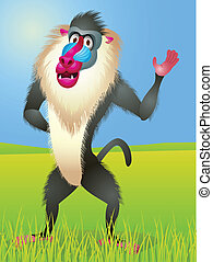 Baboon cartoon
