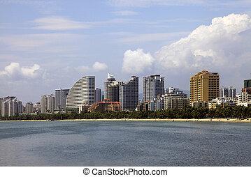 Hainan Island. Sanya - SANYA. CHINA: APRIL - 04, 2012. Canal...