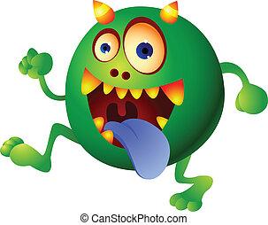 Green monster cartoon
