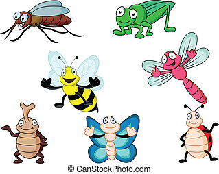 Insect cartoon - Vector illustration of insect cartoon...