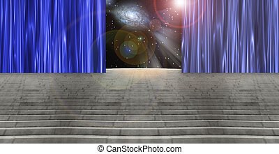 Perceptions - Curtained Stairway