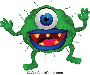 Monster - Vector illustration of green monster