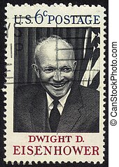 Dwight D. Eisenhower - UNITED STATES OF AMERICA - CIRCA 1969...