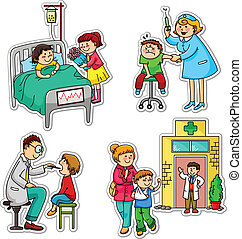 health care - children in different situations related to...