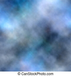 Blue smoke background - Abstract editable vector background...