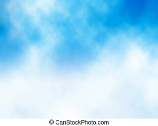 Cloud on blue - Editable vector illustration of a misty...