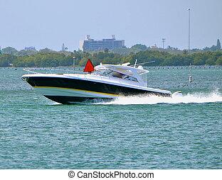 Speeding Fishing Boat