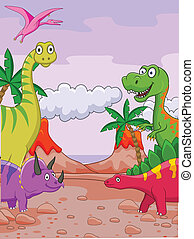 Dinosaur cartoon - Vector illustration of dinosaur cartoon...