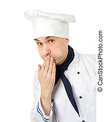 Chef. Isolated on white background