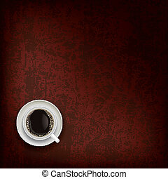 abstract grunge background with coffee cup - abstract grunge...