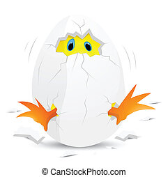 Baby Chicken in Egg - Conceptual Art Design of Baby Chicken...