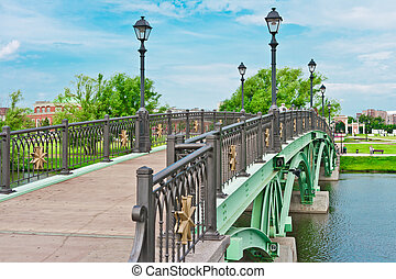 Green Bridge in Tsaritsino Park, Moscow, Russia, East Europe