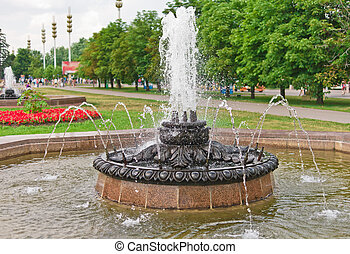 Old Fountain in VVC VDNH, Moscow, Russia, East Europe