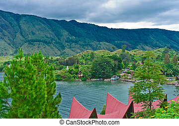Samosir Island on Lake Toba, Sumatra, Indonesia, Southeast...