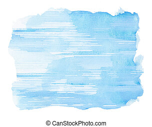 Watercolor background - Abstract blue watercolor background...