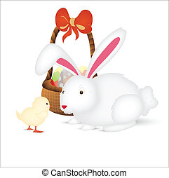 Easter Bunny with Chicken