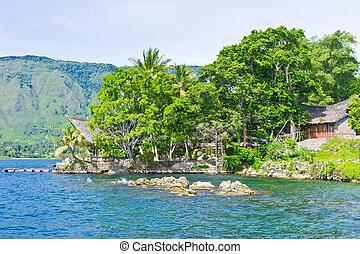 Samosir island in Lake Toba, Sumatra