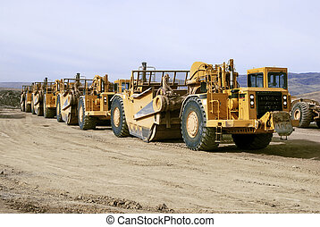 Giant Earth Scrapers - Earth moving equipment