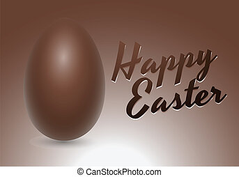Chocolate Vector Egg Card