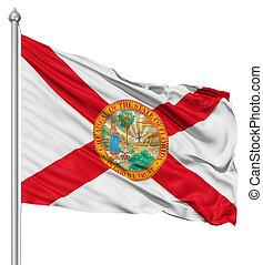 Waving Flag of USA state Florida