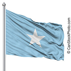 Waving Flag of Somalia - Realistic 3d flag of Somalia...