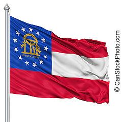 Waving Flag of USA state Georgia