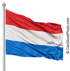 Waving Flag of Netherlands - Realistic 3d flag of...
