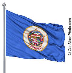 Waving Flag of USA state Minnesota